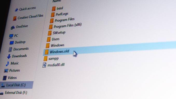windows-old diagrafi fakelou-Windows.old – Διαγραφή φακέλου για αύξηση χώρου στο δίσκο